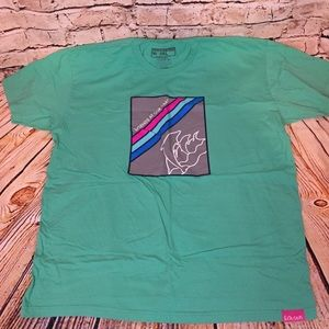 Pink Dolphin T Shirt Turquoise Size  3XL